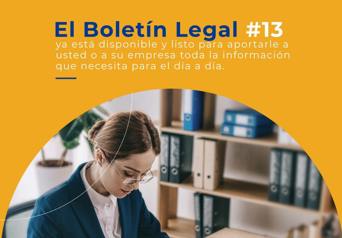 Actualidad Normativa. Boletín Legal # 13